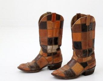 1970s Laramie leather boots,  hippie cowboy boots