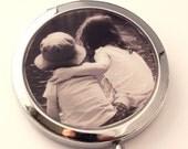 Custom Photo Mirror.  Compact mirror