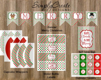 Christmas Party Package Digital, Instant Download