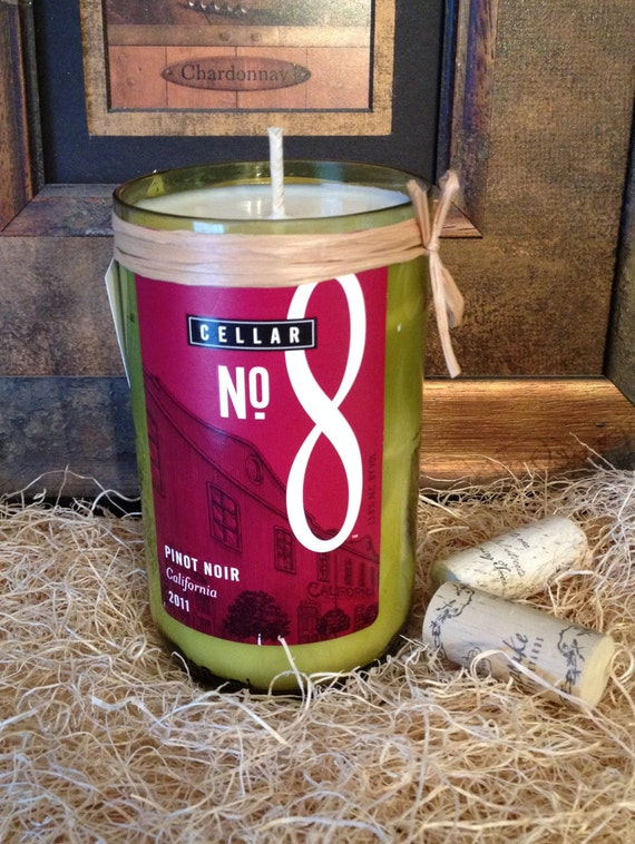 Recycled Wine Bottle Candle