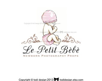 Le Petit Bèbè - Character Illustrated Premade Logo design