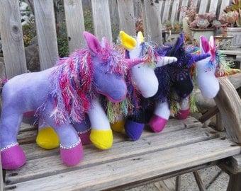Plush Unicorn, Stuffed Unicorn, stuffed animal unicorn