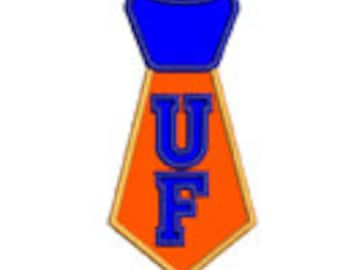UF Tie...Embroidery Applique Design...Three sizes for multiple hoops...Item1577....INSTANT DOWNLOAD