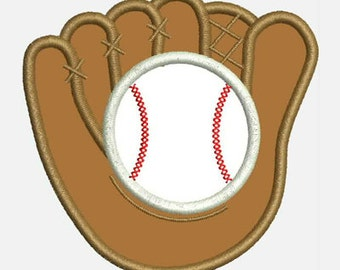 Baseball Mitt...Embroidery Applique Design...Two sizes for multiple hoops...Nine Formats Included...item1587