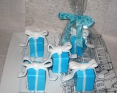 Handmade Soap, Blue Gift BoxSoap,  Natural Shea Butter Soap, Vegan Friendly Soap, Wedding Favor Soap, Shower Favor Soap, ECS