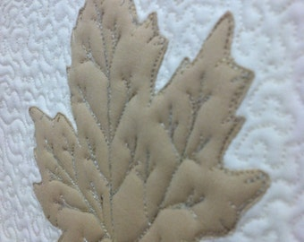 Maple Leaves in Taupe Quilted Trivet Set Quiltsy Handmade