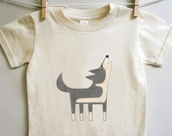 Children's Wolf t-shirt, toddler wolf tee, kids wolf t-shirt