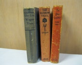 Antique Zane Grey Book Collection Shabby Chic Book Display, Add to A Collection,  Enjoy and or Share Vintage Find of Old Childrens Readers