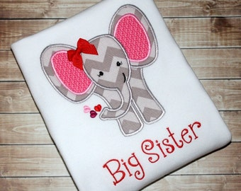 Big Sister Shirt - Big Sister Gift, Big Sister Dress, Big Sister Announcement, Sibling Outfits, Big Sister Little, Sister Elephant, Hospital