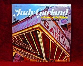 JUDY GARLAND - at Home at the Palace Opening Night - 1967 Vintage Vinyl Record Album