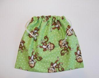GRIP BAG custom GYMNASTICS Bags Gymnast ~match to your team leotard  Goody Bag - gymnast birthday present or gift lime green monkeys