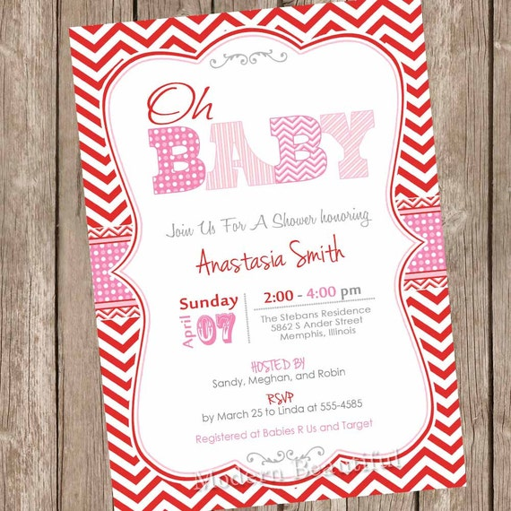 Something New  ValentineS Day Baby Shower Invitations  Modern