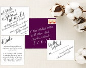 Calligraphy Wedding Invitation. Calligraphy Font. Elegant Wedding Invitations. Wedding Favors. Wedding Menu. Wedding Programs. Stationery.