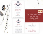 Nautical Wedding Invitations. Nautical Wedding Invitation. Nautical Wedding. Modern Wedding. Wedding Favors. Wedding Menu. Wedding Programs.