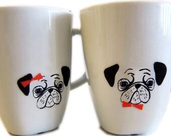 SALE pug porcelain stickers