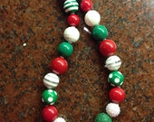 Adult Size Christmas Chunky Bead Necklace
