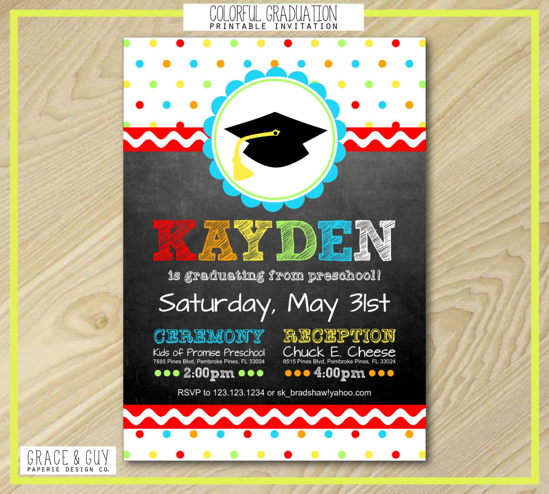 preschool graduation invitation graduation invitation preschool graduation by graceandguy 86684