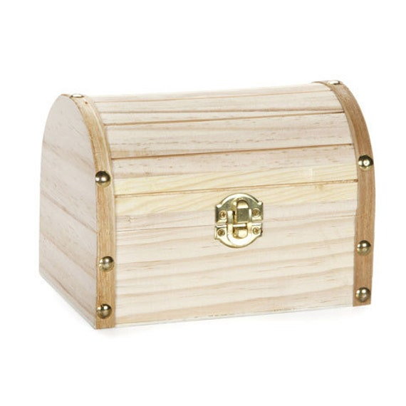 Unfinished Wood Treasure Chest Box By Urbanhomesteaders On