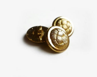 3 Gold Vintage Buttons