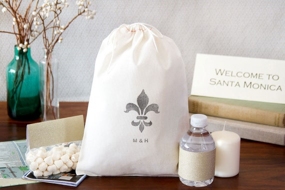 Fleur De Lis Wedding Welcome Bags - Out of Town Welcome Bags - Custom Quantity
