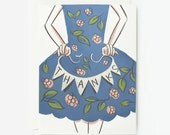 Bunting Flag Thanks Card 1pc