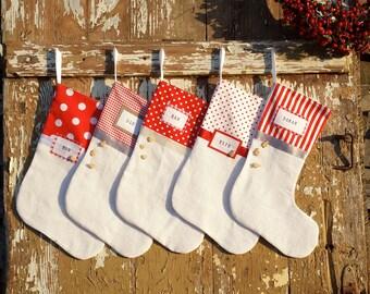 5 Christmas stockings - Family of 5