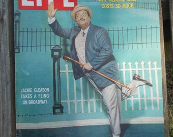 Vintage LIFE Magazine November 2 1959-Jackie Gleason Takes a Fling on Broadway-Wonderful Condition / In Plastic Cover