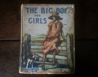 Vintage English The Big Book for Girls Book Girl circa 1950's / English Shop