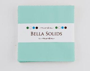 Bella Solids Charm Pack Egg Blue by Moda