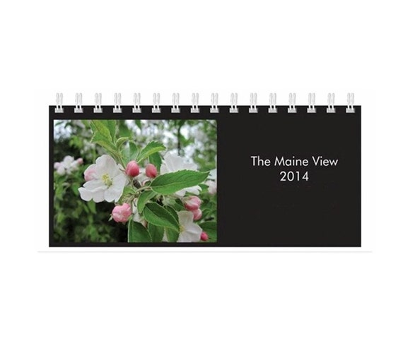 Desk Calendar 2014, Fine Art Photography,The Maine View, Celebrate Beauty Each Month of the Year, FREE SHIPPING in USA