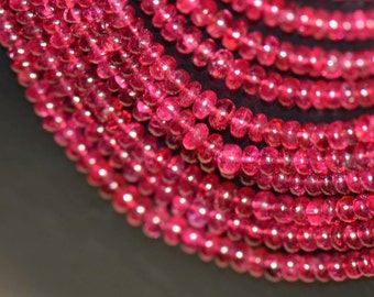 """19"""" AAA red pink  SPINEL beads 2.25 - 4.5 mm spbr003"""
