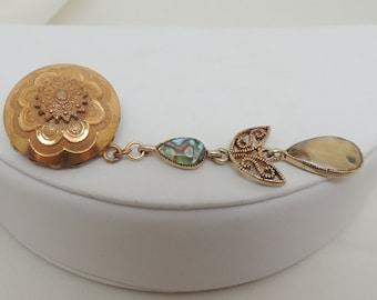Semi Vintage Gold Brooch