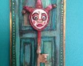 Handmade Mixed Media Jester OCD key wall Decor