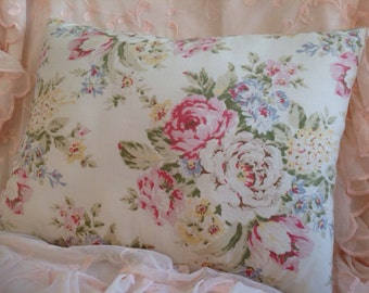 Shabby Chic pillow cover Beautiful rose print pillow Shabby colors!