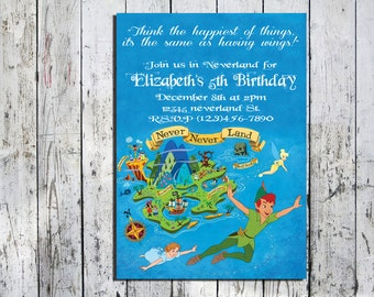 Peter Pan Neverland Invitation
