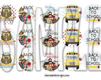 Back2 School Bottle Cap Images