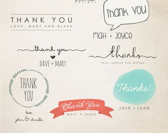 INSTANT DOWNLOAD - Thank You Word Overlays  vol.3