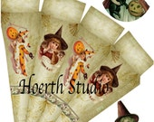 Halloween printable paper cone  Gothic steampunk  Paper Cone DIY instant download