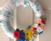 Spring Time Felt Wreath