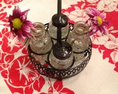 Vintage Salt & Pepper Caddy