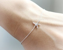 Starfish Bracelet in 925 sterling silver / choose your color- gold , silver and pink gold