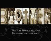 BROTHER Alphabet Photography Letter Art - (various sizes)