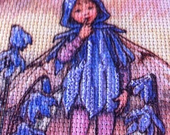 Flower Fairy Cross Stitch Kit 5 x 7 Scillia Flower Fairy by Cicely Mary Barker Cross Stitch KIT