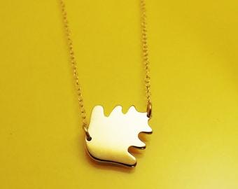 Oak tree leaf necklace