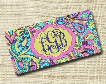 Monogram License Plate, License Plate Frame, Personalized License Plate, Paisley LP Inspired