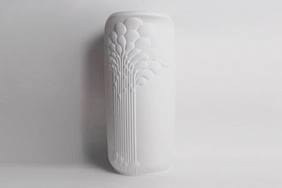 XXL 55 cm Rare German Porcelain Op Art Floor Vase - Michaela Frey 1970s for Kaiser