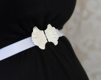 Bridal Belt - Silver Belt - White Belt - Wedding Dress Belt - Bridal Belt - Skinny Belt - Wedding Gown Belt - Wedding Accessories - Ribbon