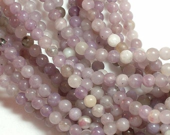 Lilac Stone (natural) Bead, 4mm round, you pick 12 beads, 24 beads, half strand, or full 16 inch strand