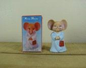 House Mouse Baby Powder Potpourri Scented Figurine Good Prosperity Love 1980's Vintage