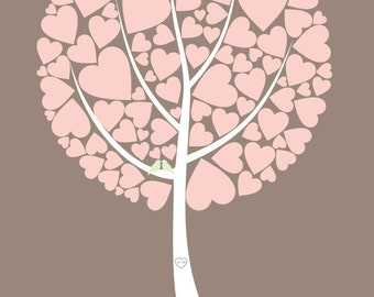 Wedding Tree Guest Book -  printed artistic poster